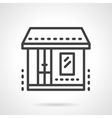 Market Storefronts black line icon vector image