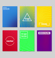 minimal covers design cool halftone gradients vector image vector image