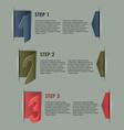 Modern paper progress steps background vector image vector image
