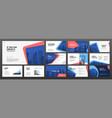 modern presentation templates set for business vector image vector image