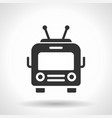 monochromatic trolleybus icon with hovering vector image vector image
