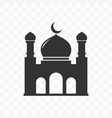 mosque icon flat design isolated vector image