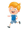 of kid running vector image