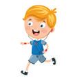 of kid running vector image vector image