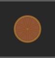 orange fruit cut in half creative linear food vector image vector image