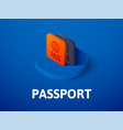 passport isometric icon isolated on color vector image vector image