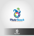 photo teach logo template vector image