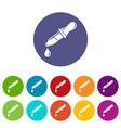 pipette icon simple style vector image vector image
