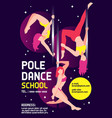 pole dance school advertising poster vector image