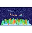 Postcard happy New year vector image vector image