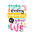 poster with phrase and decor elements vector image