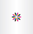 print cmyk abstract logo icon star vector image