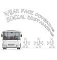 public transport bus passenger safety advice vector image vector image