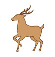reindeer animal isolated icon vector image