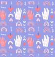 romantic seamless pattern boho background vector image vector image