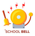 school bell ring ringing classic electric vector image