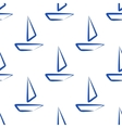 seamless boat isolated vector image vector image