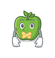 silent green apple character cartoon vector image vector image