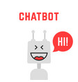 silver simple chatbot robot like assistant vector image
