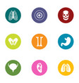 state of the body icons set flat style vector image