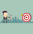 successful businessman aiming target vector image vector image