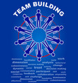 team building presentation leaflet flyer with vector image