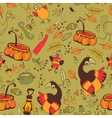The pattern for the autumn holidays vector image