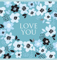 turquoise color abstract floral pattern vector image vector image