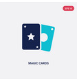 two color magic cards icon from entertainment and vector image vector image