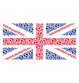 uk flag mosaic of football ball icons vector image