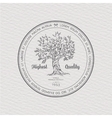 Vintage label with tree vector image vector image