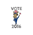 Vote 2016 Democrat Donkey Mascot Flag Cartoon vector image vector image