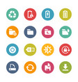 web and mobile icons 3 - fresh colors series vector image vector image