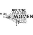 what do women want from men text word cloud vector image vector image