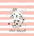 with cute little leopard vector image