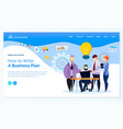 writing business plan strategy team website vector image vector image
