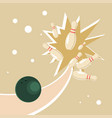 ball in a bowling alley vector image