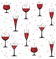 wine glasses on white vector image