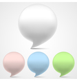 3d speech bubbles set vector image vector image