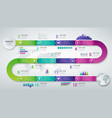 abstract 3d infographic template with 12 options vector image