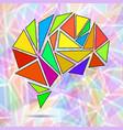 abstract geometric human brain vector image vector image