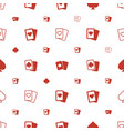 ace icons pattern seamless white background vector image vector image