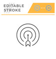 aim editable stroke line icon vector image