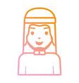 arab man cartoon neon lines vector image vector image