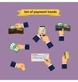 Assorted Mode of Payment Types vector image