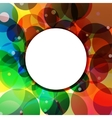 Background Circle Rainbow Jungle vector image vector image