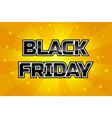 big sale design template black friday on orange vector image