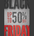 black friday mega sale announcement realistic vector image vector image