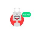 chat bot icon like chatbot robot vector image vector image