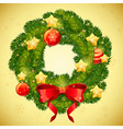 Christmas festive decorative wreath vector image